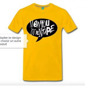 Spreadshirt jaune bulle menfoumentape