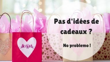 Pas d'idées de cadeau, no problemo ! paquets de cadeaux roses Alice Kara